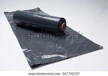 recycle bag black - stock photo