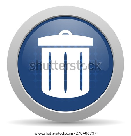 recycle blue glossy web icon  - stock photo