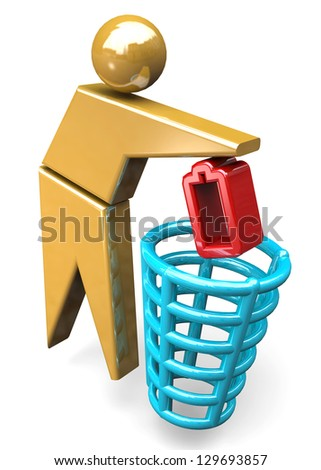 RECYCLE - 3D - stock photo