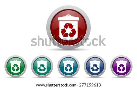 recycle icon recycling sign  - stock photo