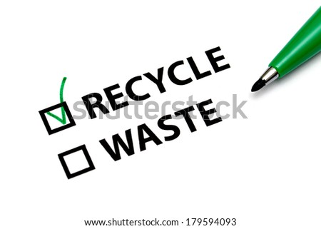 Recycle or waste - stock photo