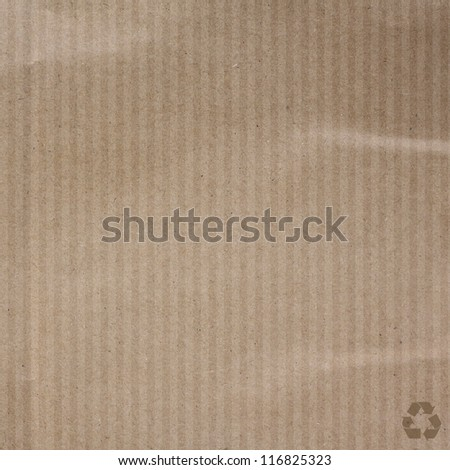 Recycle paper texture background - stock photo