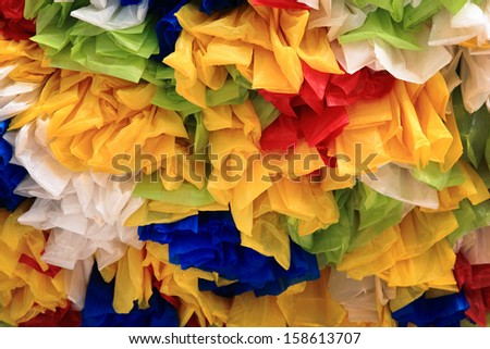 Recycle plastic bag rearranged for decoration - stock photo