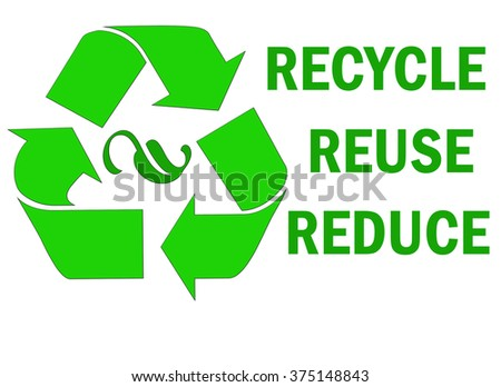 Recycle reuse reduce word - stock photo