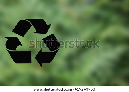 Recycle Sign Shape  - stock photo