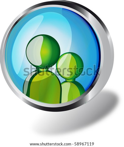 recycle web button - stock photo