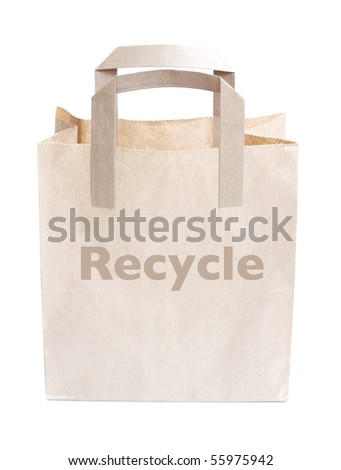 Recycled bag - stock photo