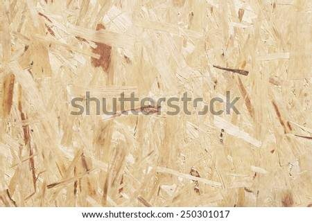Recycled compressed wood chippings board - stock photo