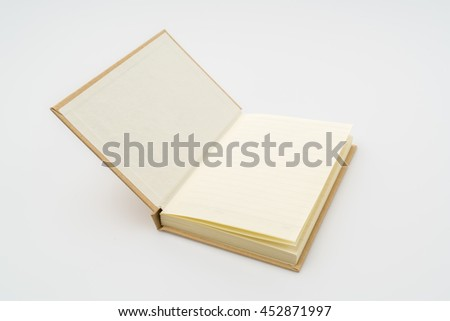 Recycled paper book  on white background - stock photo