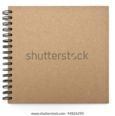 recycled paper notebook front cover - stock photo