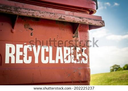 Recycling bin - stock photo
