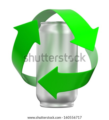 Recycling can - stock photo