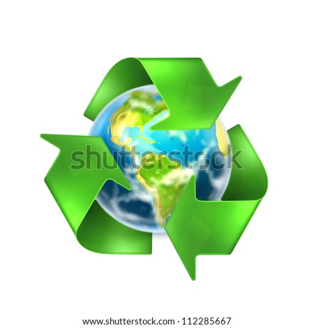 Recycling Earth, bitmap copy - stock photo