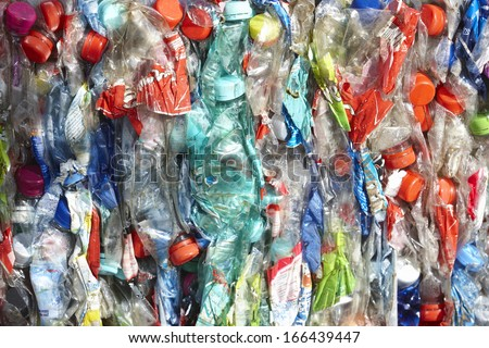 recycling pet bottles - stock photo