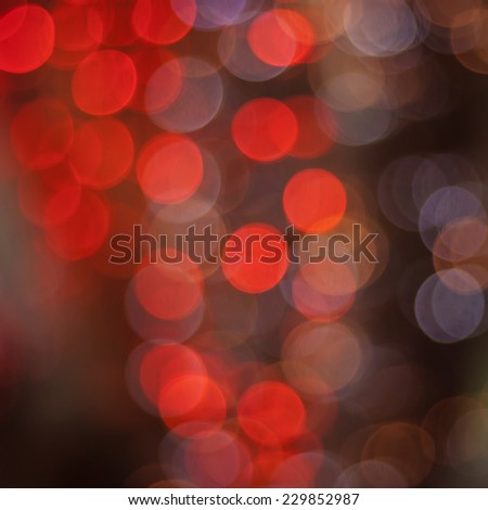 red abstract background with glitter bokeh lights  - stock photo