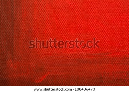 Red Abstract Painted Canvas - stock photo