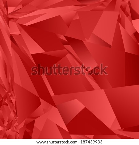 Red abstract rectangle pattern background - jpeg version - stock photo