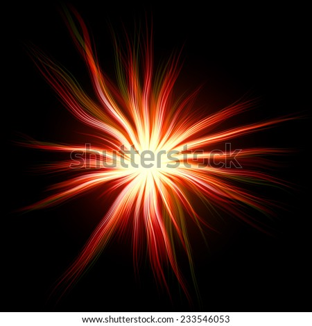 Red abstract sun background generated - stock photo