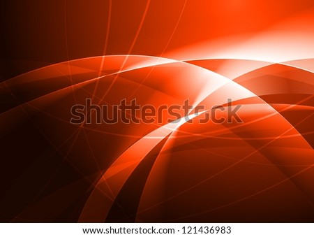 Red abstraction with beautiful waves - stock photo