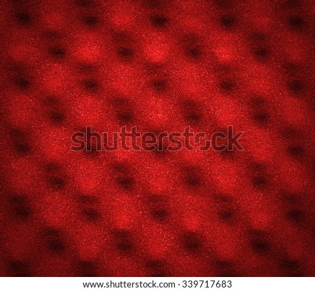 Red acoustic foam for abstract background or texture - stock photo