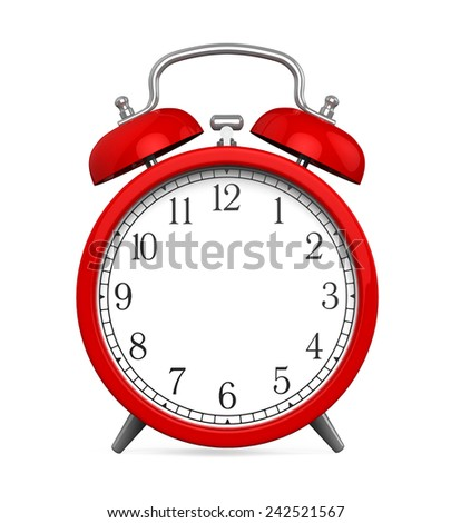 Red Alarm Clock with Blank Space - stock photo