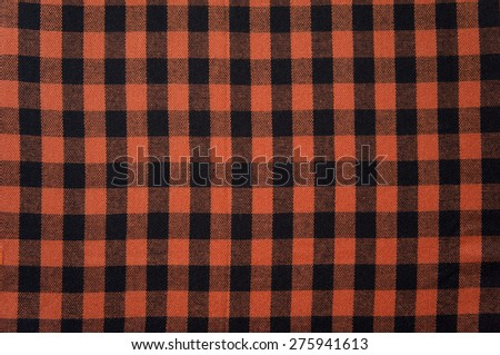 Red anb Black checkered tablecloth texture, background with copy space - stock photo