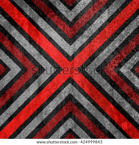 Red and black abstract old background texture with X pattern. - stock photo