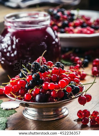 how to clean black currants for jam
