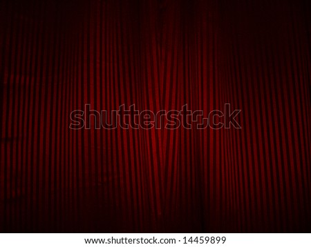 Red and black valance of theater or cinema - stock photo