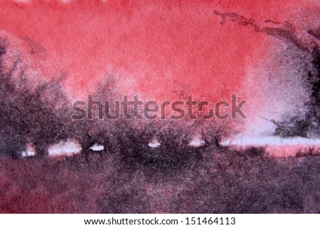 Red and Black Watercolor Background 8 - stock photo