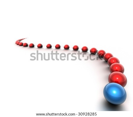 Red and blue balls - stock photo
