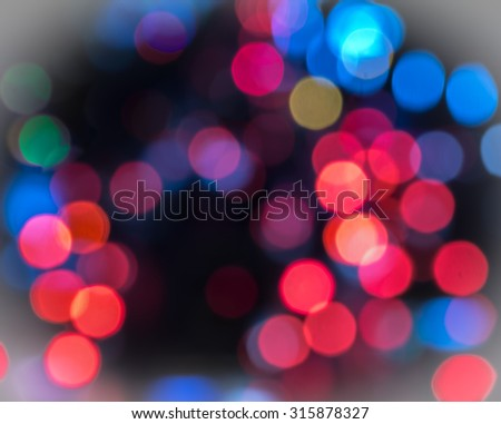 Red and blue bokeh background. - stock photo