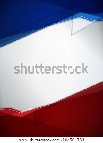 Red and Blue Modern Background - stock photo