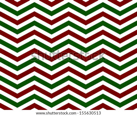 Red and Green Zigzag Pattern Background that is seamless and repeats - stock photo