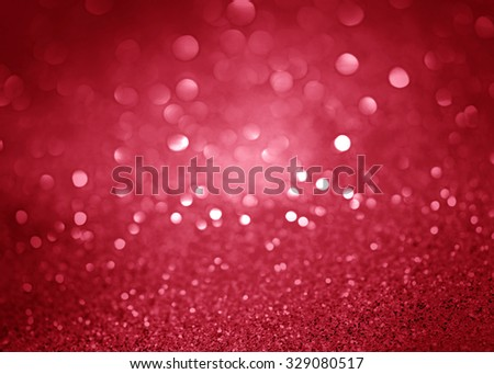 Red  and pink Festive Christmas abstract bokeh background, shining lights, holiday sparkling atmosphere, celebration ambient - stock photo