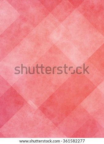 red and white abstract background with angled lines, blocks, squares, diamonds, rectangles and triangle shapes layered in checkered style abstract pattern - stock photo