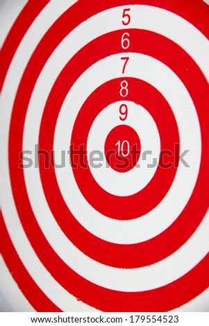 Red and white Dart board. - stock photo