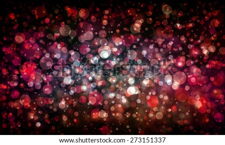 red and white glitter bokeh lights sparkling on black background - stock photo