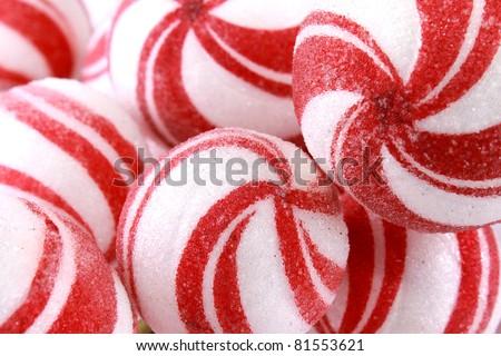Red and white swirls holidays balls - stock photo