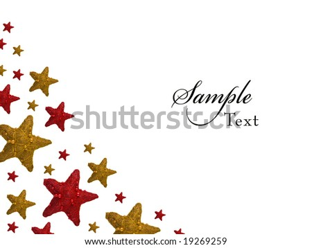 Red and Yellow Christmas Star background - stock photo