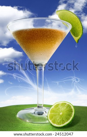 Red Apple Martini - stock photo