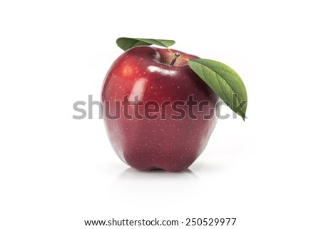Red apples fruit  isolated on white background  - stock photo