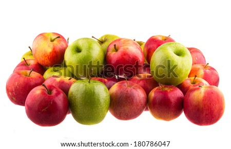 Red apples isolated isolated on white background. - stock photo