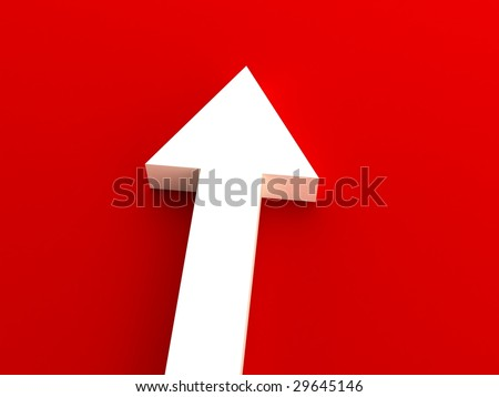 Red arrow - stock photo