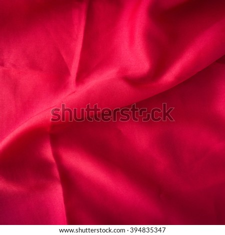 red background abstract cloth or liquid wave illustration of wavy folds of silk texture satin or velvet material or red luxurious - stock photo