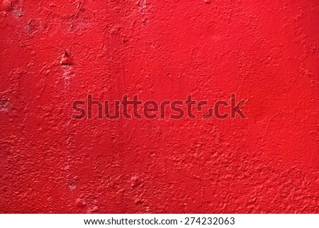 Red background. Bright painted old textured wall. - stock photo