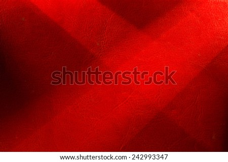 Red background illuminated from the left and right corner spotlight and vintage grunge background texture - stock photo