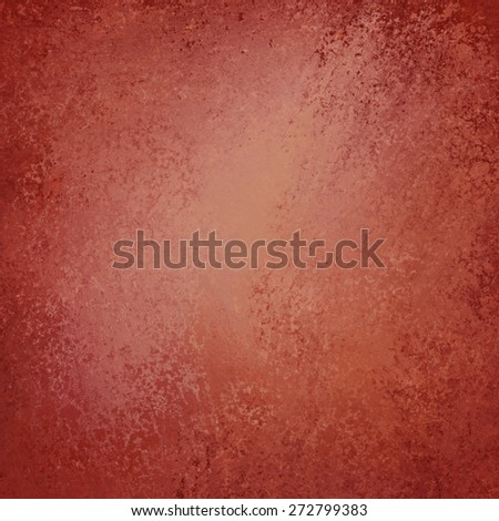 Red background. Vintage background. Red brown painted wall texture design. - stock photo