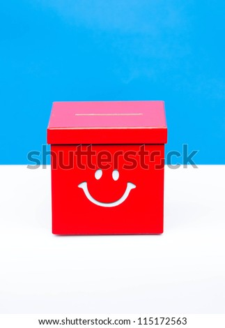 red ballet box - stock photo