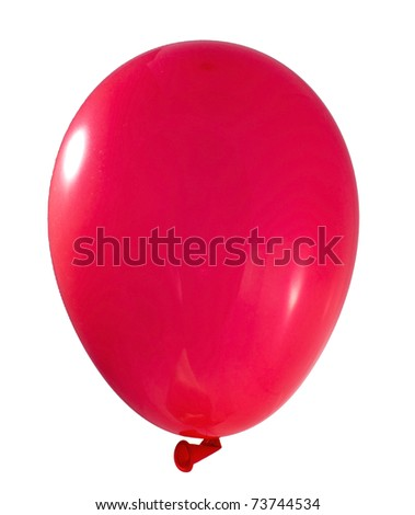 Red balloon isolated on white - stock photo